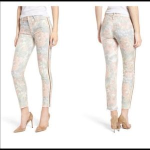 MOTHER the Looker Floral Racer Cropped Skinny Jean